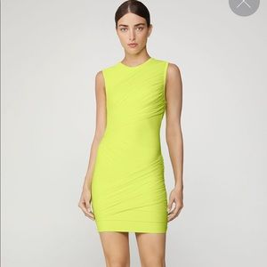 Herve Leger neon green night out dress